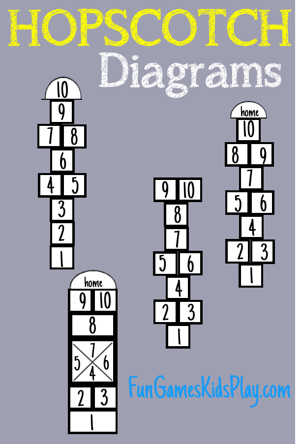 hopscotch diagrams and boards for the game of hopscotch