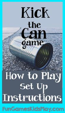 can on the street for the kick the can game