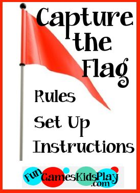flag for the capture the flag kids game