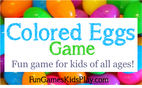 colored eggs for the colored eggs game