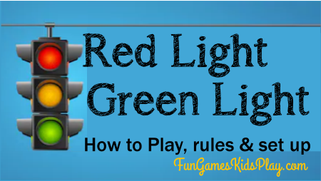Stopsign for playing the red light green light game
